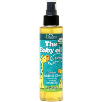 Us Organic USDA certified Organic Baby Oil with Calendula, Pure Unscented, 5 Fl. oz.