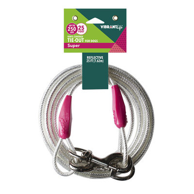 Vibrant Life Super Tie-Out Cable for Dogs up to 250 pounds, 25'