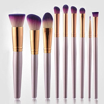 Makeup Brush Set ,Beshiny Premium 9 pcs Synthetic Kabuki Cosmetic Brush Set Foundation Blending Blush Eyeshadow Powder Brush Makeup Brushes Kit