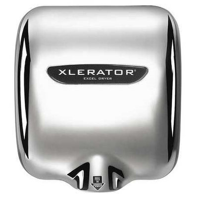 XLERATOR XL-CH-1.1N-277V Hand Dryer, Chrome,15sec,277V,Zinc Dicst