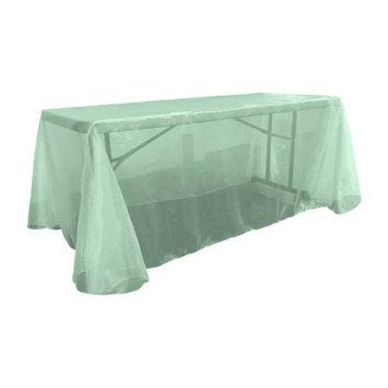 La Linen Sheer Mirror Organza Rectangular Tablecloth Color: Mint