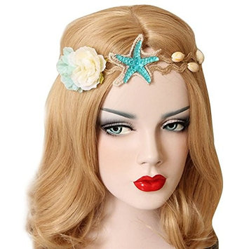 trent Summer Beach Style Bohemia Wedding Flower Head Wreath Mermaid Sea Star Starfish Hairbands for Woman Party Travel