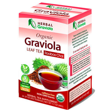 Organic Graviola Leaf tea, Rooibos Chai, 24 tea bags
