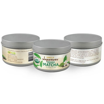 Gb Distribution Vanilla Japanese Organic Matcha, Classic Culinary Grade, 100% USDA, Boosts Energy, Memory, Concentration, and Burns Calories, 28 Gr