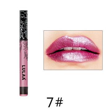DZT1968 1pc 6ml Lulaa Waterproof Glitter individual Metallic Lipstick Liquid Lip Gloss Makeup Long Lasting