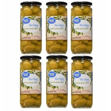 (6 Pack) Great Value Blue Cheese Stuffed Green Olives, 9.5 oz : Grocery & Gourmet Food