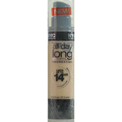 NYC all-day-long smooth skin FOUNDATION, lasts up to 14 hours, 745 Soft Honey, 0.92 Fl Oz