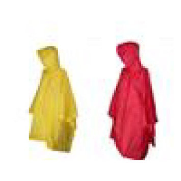 totes ISOTONER Unisex Rain Poncho with Hood (Pack of 2), Red/Yellow