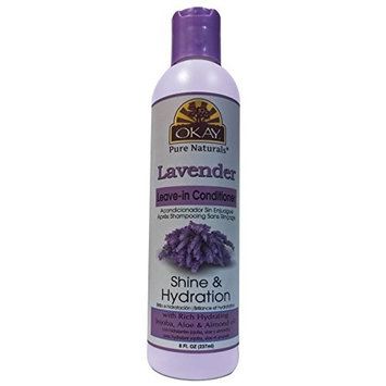 OKAY Lavender Leave In Conditioner, 8 Fluid Ounce
