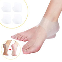 Plantar Fasciitis Heel Cushion Foot Sleeve(2 Pairs) - Breathable Protective Silicone Heel Protector to Instantly Relieve Pain and Pressure -Protect Bone & Heel Spurs (2...