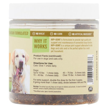 Pet Naturals of Vermont - Hip + Joint, Daily Joint Supplement for Cats and Dogs, 70 Bite Sized Chews