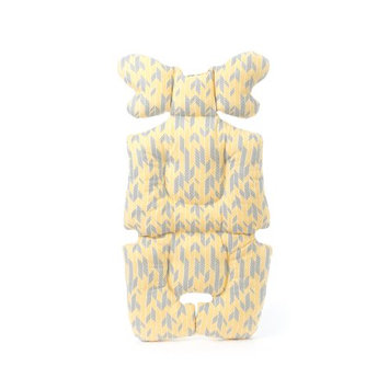Perry Mackin Organic Cotton Stroller Liner Yellow/Grey