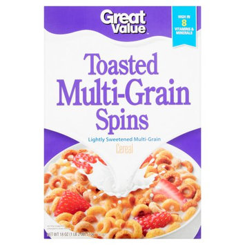 Wal-mart Store, Inc. Great Value Toasted Multi-Grain Spins Cereal, 18 oz