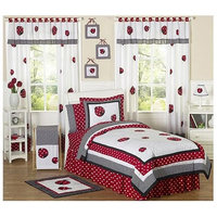 Red & Black Polka Dot Ladybug Comforter Set (Twin) - Sweet Jojo Designs®