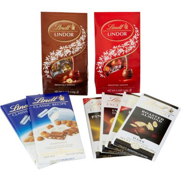 Lindt & Sprungli Lindt Nuts Over Chocolate Collection Gift Set, 8 pc