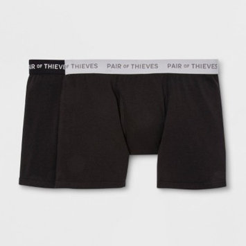 Pair of Thieves Men's SS 2pk Boxer Briefs - Black