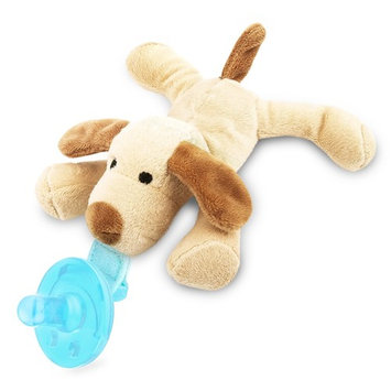 Zooawa Baby Pacifier, Dog Pacifier Holder with Removable Plush Stuffed Animal Toy and Rattle for Infant
