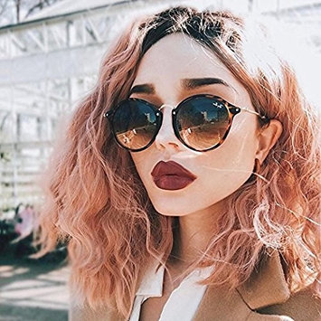 Zenith Ombre Pink Short Wigs for Girls Wavy Hair Ombre Pink Bob Wigs with Dark Roots Synthetic Hair Pink Wavy Lace Front Wigs Classic Pink Hair Short Bob Wigs