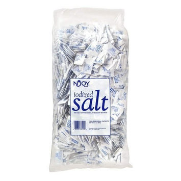 N'JOY Iodized Salt - Pack of 1 (3000 ct.) .5 gm Packets