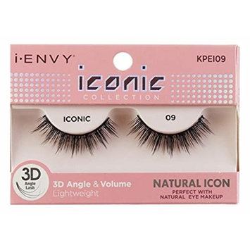 Kiss I Envy Iconic Collection Lashes #09 3D Angle & Volume (Natural) (2 Pack)