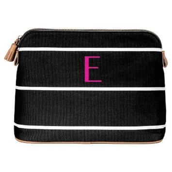 Cathy's Concepts Personalized Black Striped Cosmetic Bag