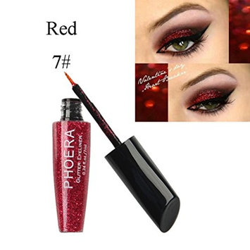 Inverlee 10 Colors Metallic Shiny Makeup Glitter Eyeshadow Waterproof Liquid Eyeliner