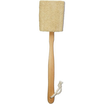Natural Exfoliating Loofah luffa loofa Bath Brush On a Stick - With Long Wooden Handle Back Brush For Men & Women - Shower Sponge Body Back Scrubber Pack of 1