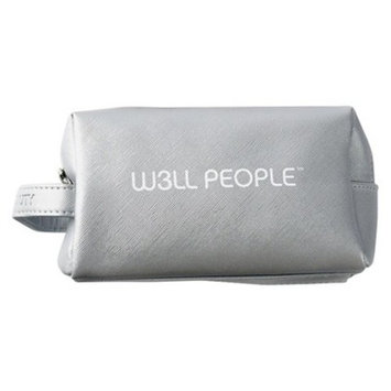 W3LL PEOPLE Excursionist Cosmetic Makeup Bag Silver