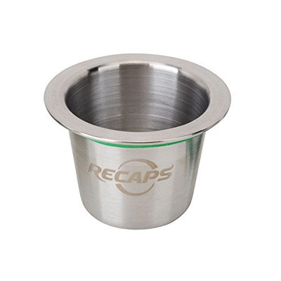 RECAPS Stainless Steel Refillable Capsules Reusable Pods Compatible with Nespresso Machines Makers