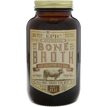Epic Bar, Artisanal Bone Broth, Beef Jalapeno Sea Salt, 14 fl oz (414 ml) [Flavor : Beef Jalapeno Sea Salt]