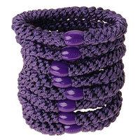 L. Erickson Grab & Go Ponytail Holders - Set of Eight - Purple