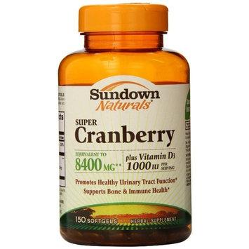 Sundown Naturals Super Cranberry 8400 mg Plus Vitamin D3 1000 IU Softgels 150 ea