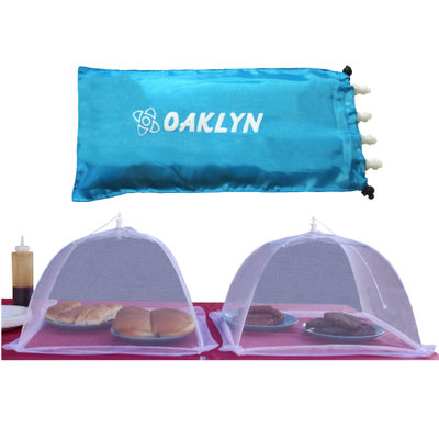 Oaklyn 16 Inch Collapsible Mesh Food Cover Tent Set (4pk) with Storage Bag