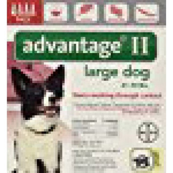 Advantage II BAY-81520283 Flea and Tick Control for Dogs 21-55 lbs 4 Month Supply