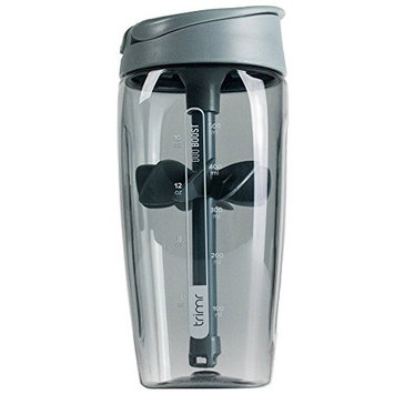 Trimr Duo Boost Protein Shaker Bottle, 24 oz.