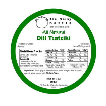 Dill Tzatziki, Cucumber Sauce (NoisyKettle) 7 oz (198g)