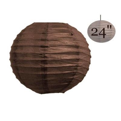 Balsacircle 12 pcs 24' Paper Lanterns Lamp Shades - Chocolate Brown