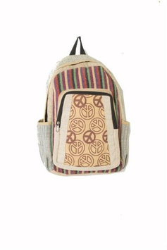 Hemp Cotton Backpack Medium Earth Divas 1 Bag