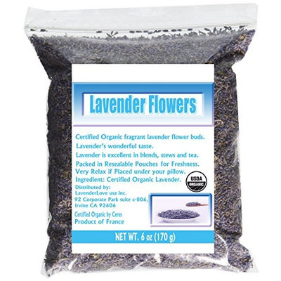 CCnature French Lavender Flowers USDA Organic Dried Culinary Lavender 6 oz