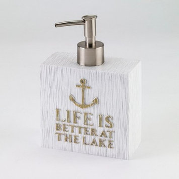 Lake Words Lotion Pump White/Gold - Avanti®