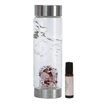 VitaJuwel Gemstone Water Bottle LOVE w/Free Love Essential Oil Blend