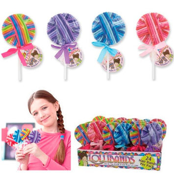 Atb Lollibands 24 Elastic Hair Tie Rope Bands Scrunchie Ponytail Holders Women Girls