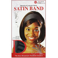 (PACK OF 12) DONNA PREMIUM COLLECTION SATIN BAND #11004 BLACK: Beauty