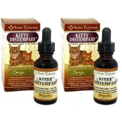 Amber Technology Kitty Distempaid - All-Natural Organic Supplement for Feline Distemper (1oz) .