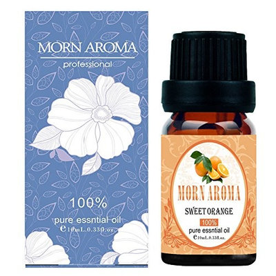 Orange Essential Oil By MORN AROMA-100% Pure Therapeutic Grade Organic Sweet Orange Oil For Diffuser, Aromatherapy, Massage Oil, Stress and Detox – Citrus Scented Oil For Candles and DIY -10ml