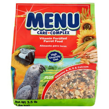 Menu Care Complex Vitamin Fortified Parrot Food, 3.5 lb
