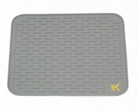 Eekay Wares Easy Clean, Heat Resistant, Antibacterial Silicone Drying Mat in XL & XXL sizes, with bonus spoon rest & band for easy storage