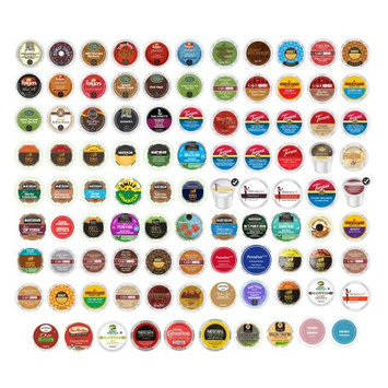 Various Manufacturers Variety Sampler with Van Houtte, Guy Fieri, Folgers, Barista Primahouse, Cake Boss & Other Popular Single Serve Coffees for Keurig K-Cup Brewers (96 Count)