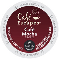 Cafe Escapes Cafe Mocha K-Cups for Keurig Brewers (Pack of 96)