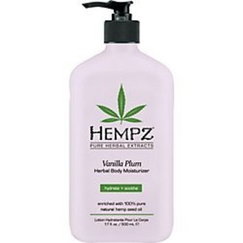 Hempz Herbal Body Moisturizer, Vanilla Plum,17 Ounce